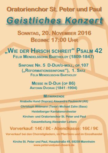 Geistliches Konzert 2016