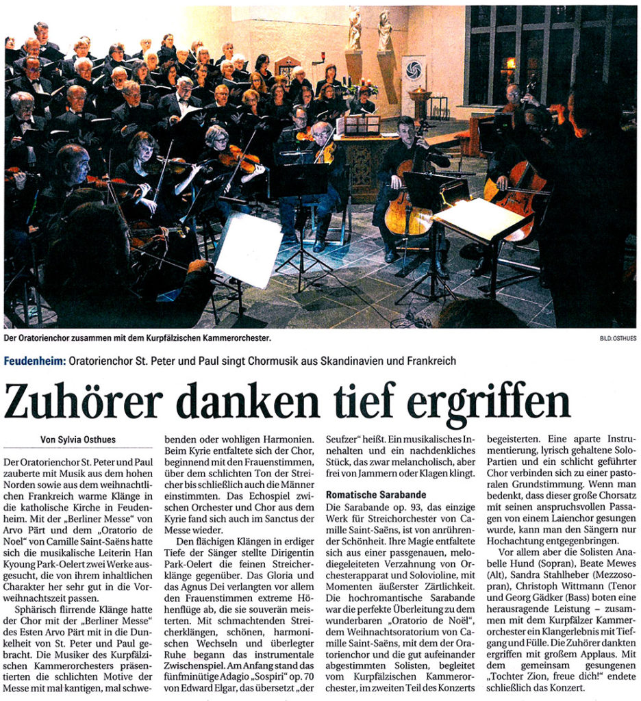Artikel MM Geistliches Konzert 08.12.2019
